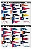 MLB Rank 'Em All 30 Teams Mini Pennant Magnet