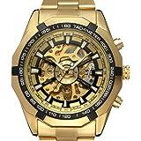 f56c86cf3bc8 PIXNOR Hombre Relojes de Pulsera Mecánico Automático con Pulsera de Acero  Inoxidable