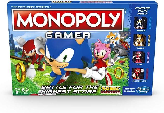 Hasbro Monopoly Gamer Sonic The Hedgehog Edition Juego de Mesa para niños de 8 años en adelante; Juego de Mesa temático Sonic Video Gamer: Amazon.es: Juguetes y juegos