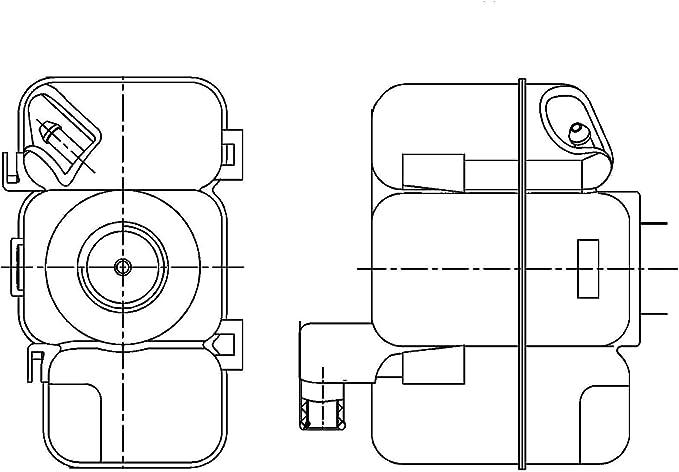 Behr Hella Service 376755041 Volkswagen Engine Coolant Reservoir
