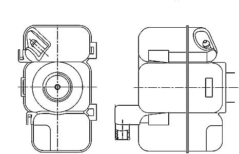 amazon com behr hella service 376789741 volvo engine coolant volvo s70 engine diagram volvo engine cooling diagram #9