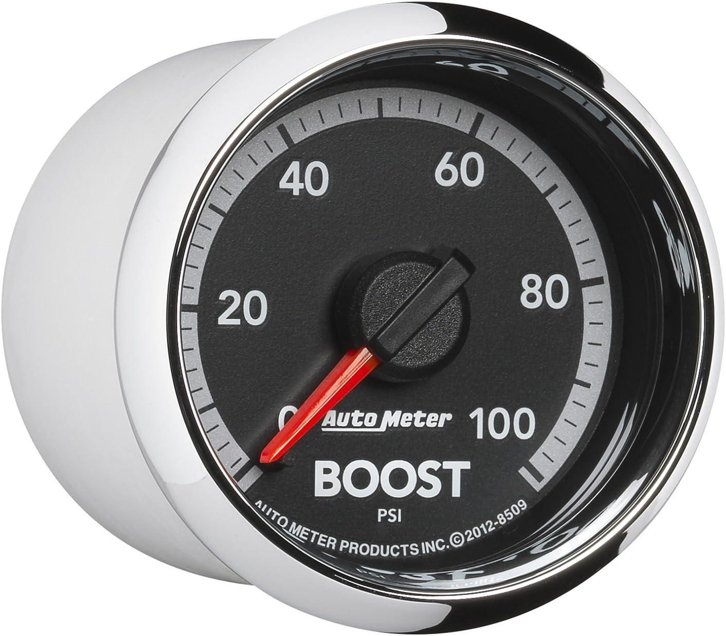 0-100 PSI, 52.4mm Auto Meter 8509 Factory Match 2-1//16 Mechanical Boost Gauge