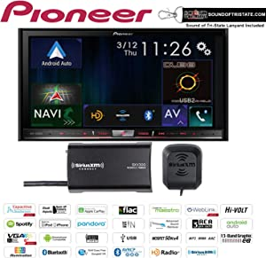 """Pioneer AVIC-7200NEX in Dash Double Din 7"""" DVD CD Navigation Receiver and a SiriusXM Satellite Radio Tuner, Antenna SXV300V1 with a Free SOTS Air Freshener"""