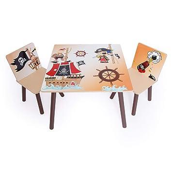 Kindersitzgruppe Holz Und Braun Homestyle4u Set 1117 Stühle Kindertisch Aus Beige 1 PiratKindermöbel 2 zSMpUqV
