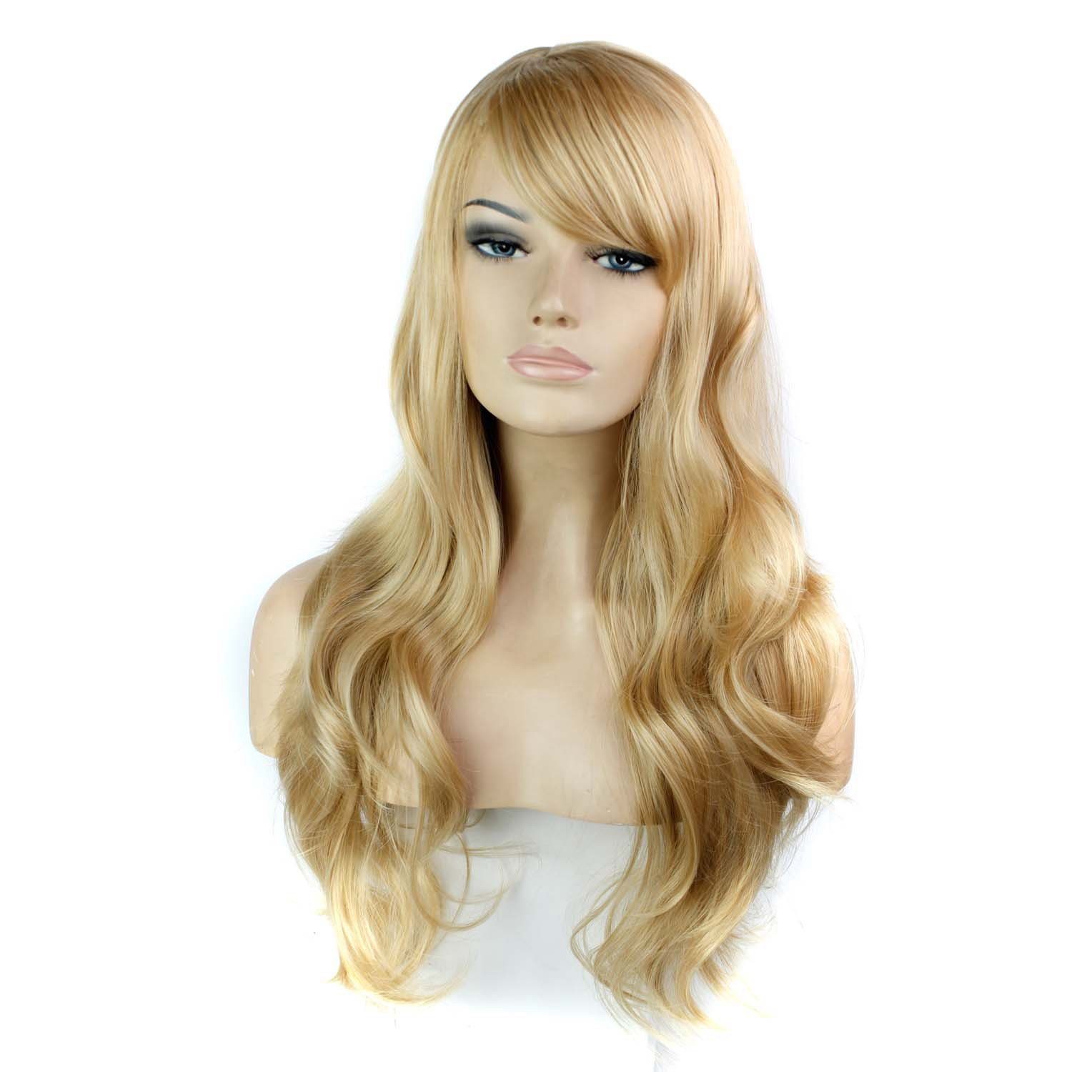 Amazon.com   Fashion Women Wigs for Daily Use Synthetic Hair Wig Popular  Halloween Cosplay Wig   Beauty c076502ece55