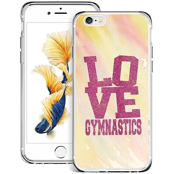amazon com hekui love gymnastics iphone 6s plus 6 plus case, ultrahekui love gymnastics iphone 6s plus 6 plus case, ultra durable shock absorption anti