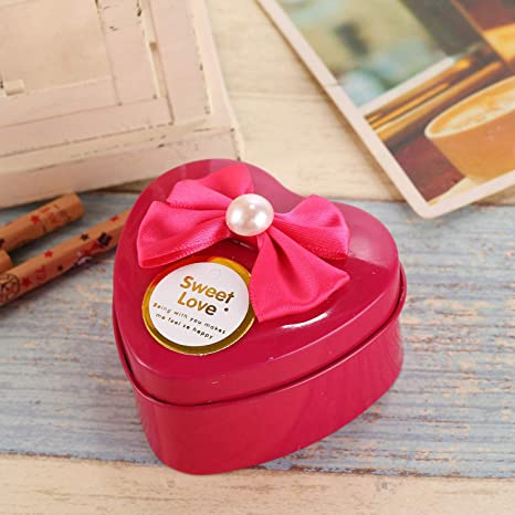 GaGadot Linda Caja Decorativa Caja Grande de Dulces de hojalata con Forma de corazón de Boda (Rose Red): Amazon.es: Juguetes y juegos