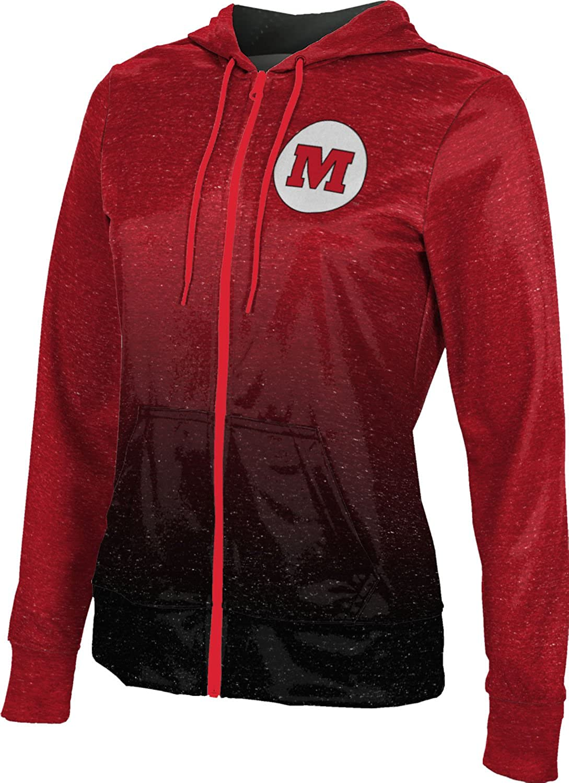ProSphere Monmouth College Girls Zipper Hoodie School Spirit Sweatshirt Ombre