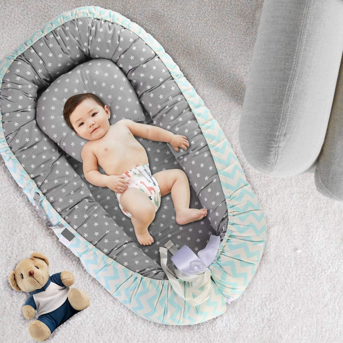dormire viaggiare DaMohony Lettino Neonato Portatile Culla per neonati Lettino per coccole Wave + Star lettini