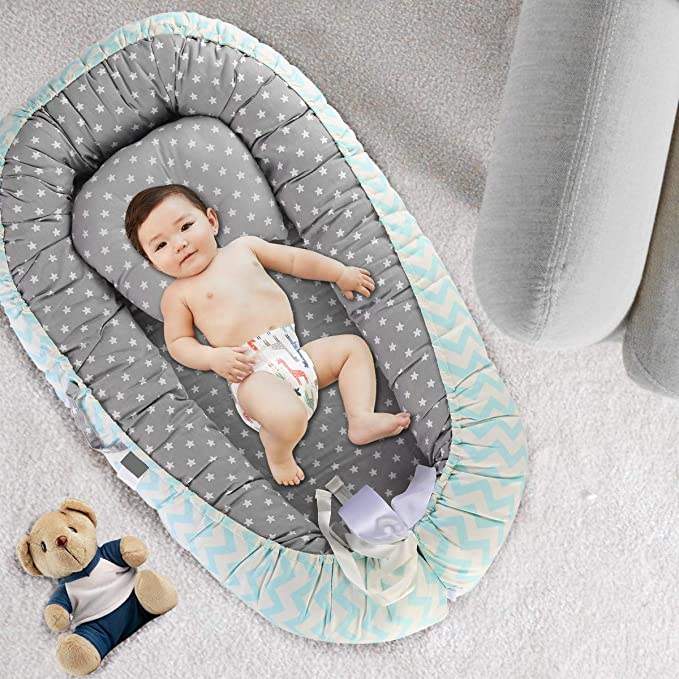 Yinuoday Baby Lounger Portable Baby Bed Cosleeper Bassinet Infant ...
