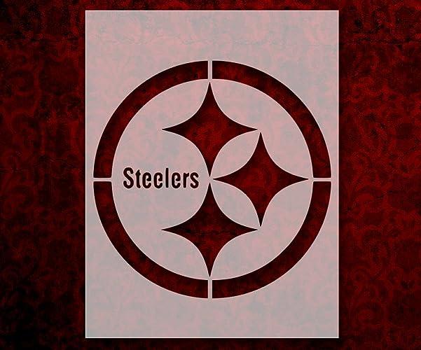 Pittsburgh Steelers Football 85quot X 11quot Custom Stencil FAST FREE