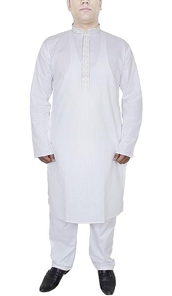 RoyaltyLane Camisa lino hombre pijama color blanco manga larga algodón túnica niño regalo