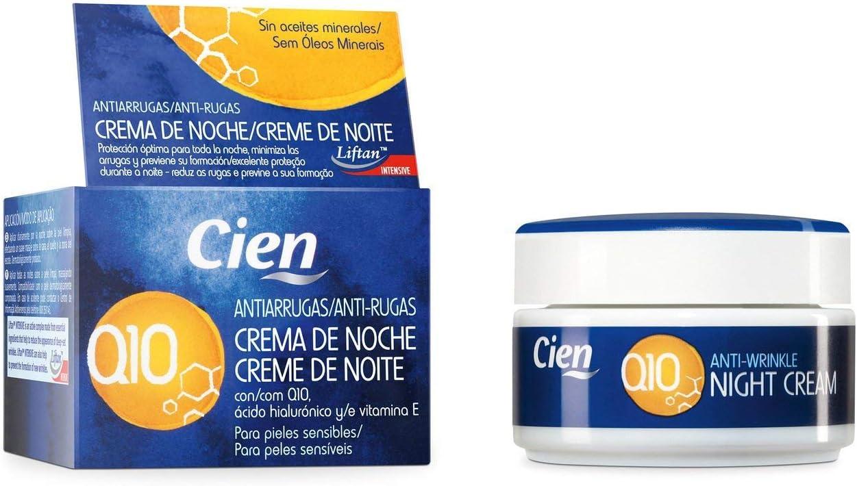 ✅ 50 ml Crema de Noche Antiarrugas Q10 - con Q10, ácido hialurónico y vitamina E - para pieles sensibles