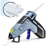 WORKPRO Cordless Hot Glue Gun, Fast Preheating Glue Gun Kit with 20 Pcs Premium Mini Glue Gun Sticks, Smart-Power-Off Hot Mel