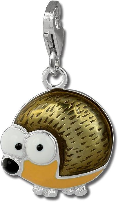 Charm h/érisson brun en argent pour charms colliers et bracelets SilberDream exclusive Charms FC879N Argent 925 Sterling