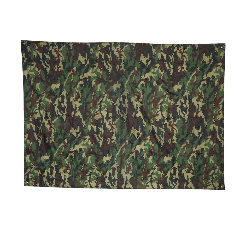 Bâche imperméable et Imputrescible Camouflage, Camouflage Tapis Imperméable Léger Extérieur de Pluie Tapis de Tente de Pique-Nique de RainTent Shelter Beach