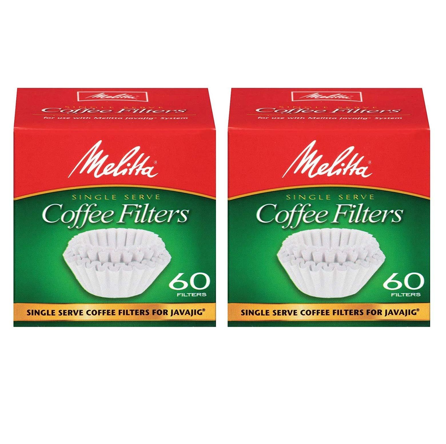 Melitta Java Jig, Single Serve Paper Coffee Filters - 2 Pack