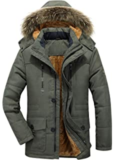 cd695ceae Amazon.com: Northgard Men's Winter Thicken Cotton Parka Jacket with ...