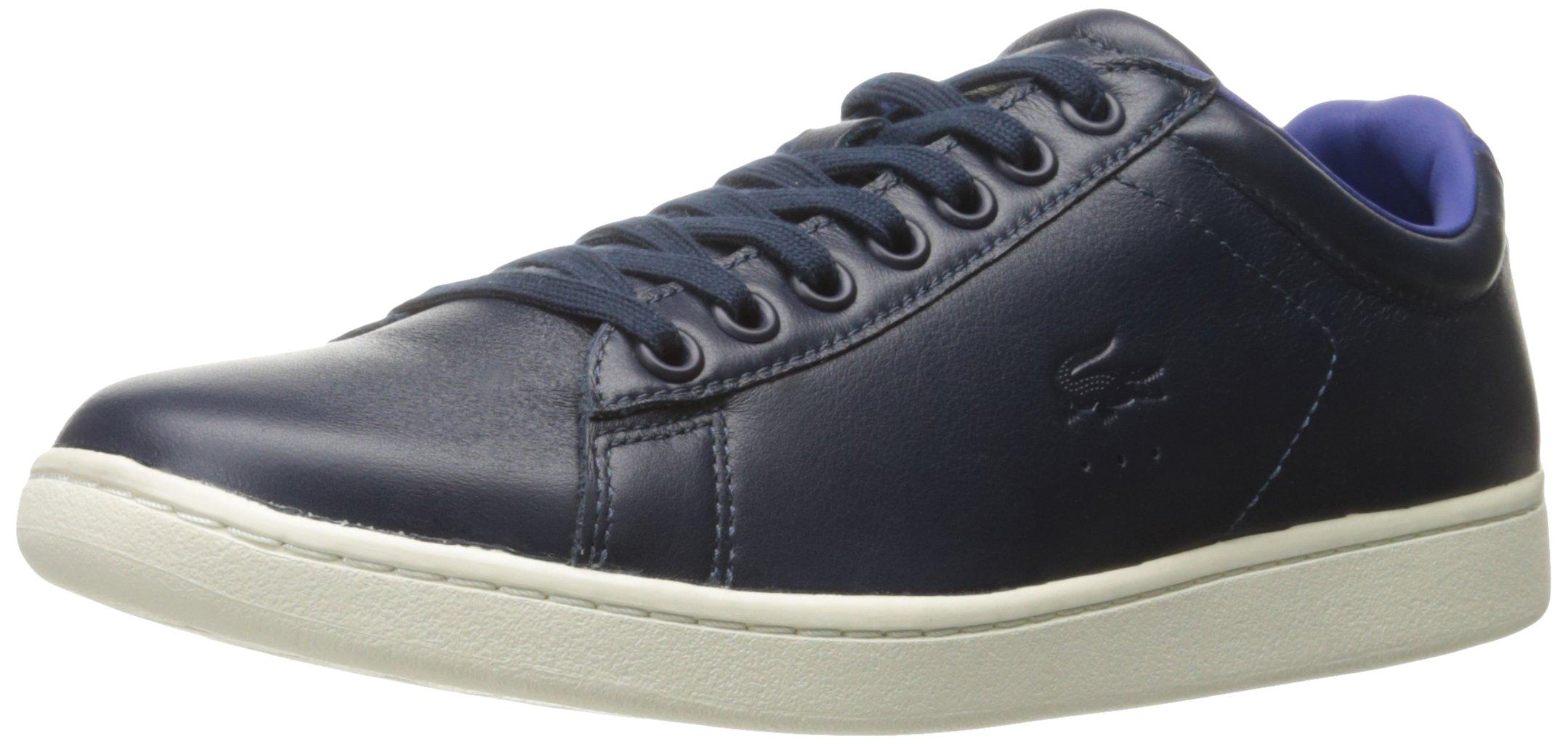 Lacoste Men's Carnaby Evo 316 1 Cam Fashion Sneaker, Navy, 9 M US