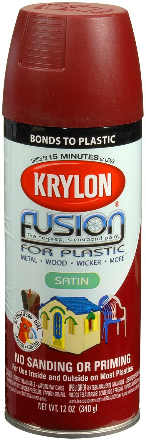 Krylon K02425001  Fusion for Plastic Spray Paint, Satin Burgundy