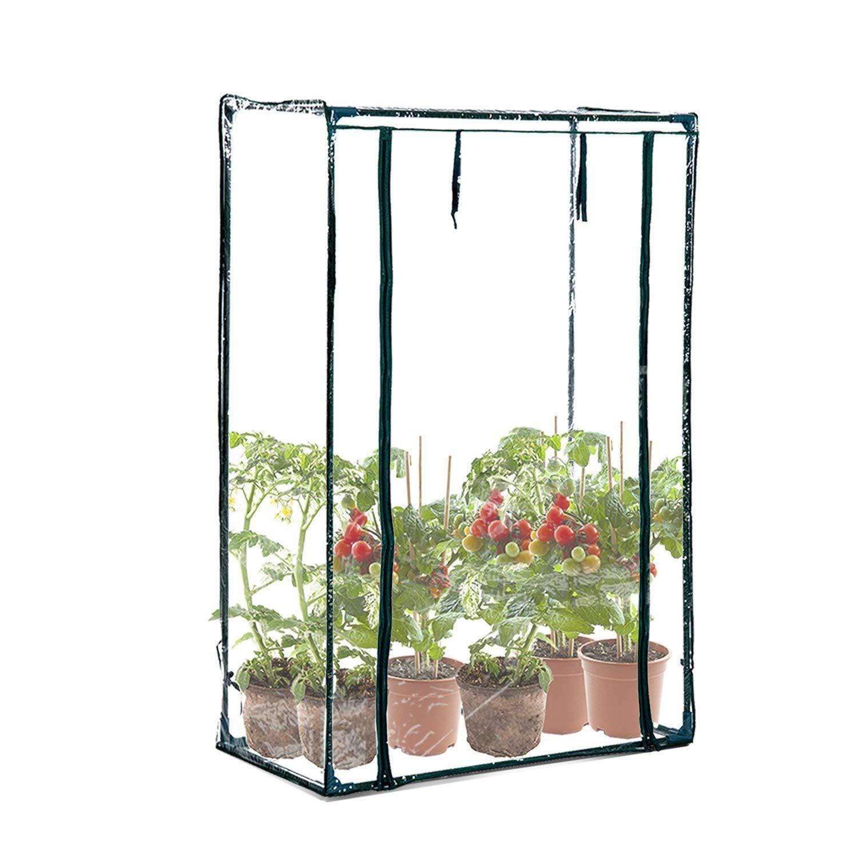 BPIL - Mini Serra da Giardino con Copertura in PVC e Cerniera, 100 x 50 x 150 cm