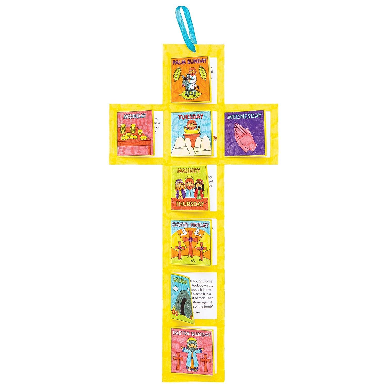 Calendarios Semana Santa para Colorear para Ni/ños Baker Ross AT562 Paquete de 5