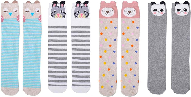 5 Pairs Kids Socks Boys Girls Cotton Cartoon/Panda Warm Sock