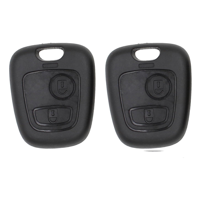 Heart Horse Remote Key Case FOB Compatible with Peugeot 107 207 307 407 406 806 Citroen C1 C21 C3 C4 C5 2 Button (2) YYGS_AMZgb 2Xsku175