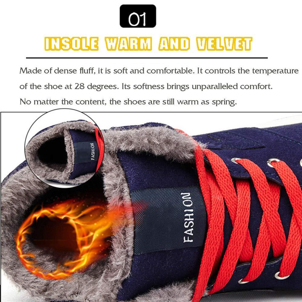 MISS LI Schneeschuhe Schneeschuhe Schneeschuhe Herren Winterschuhe Outdoor Fell Gefüttert Knöchel Plus SAMT Verdickung Warme Arbeit Utility Footwear 0e86e5