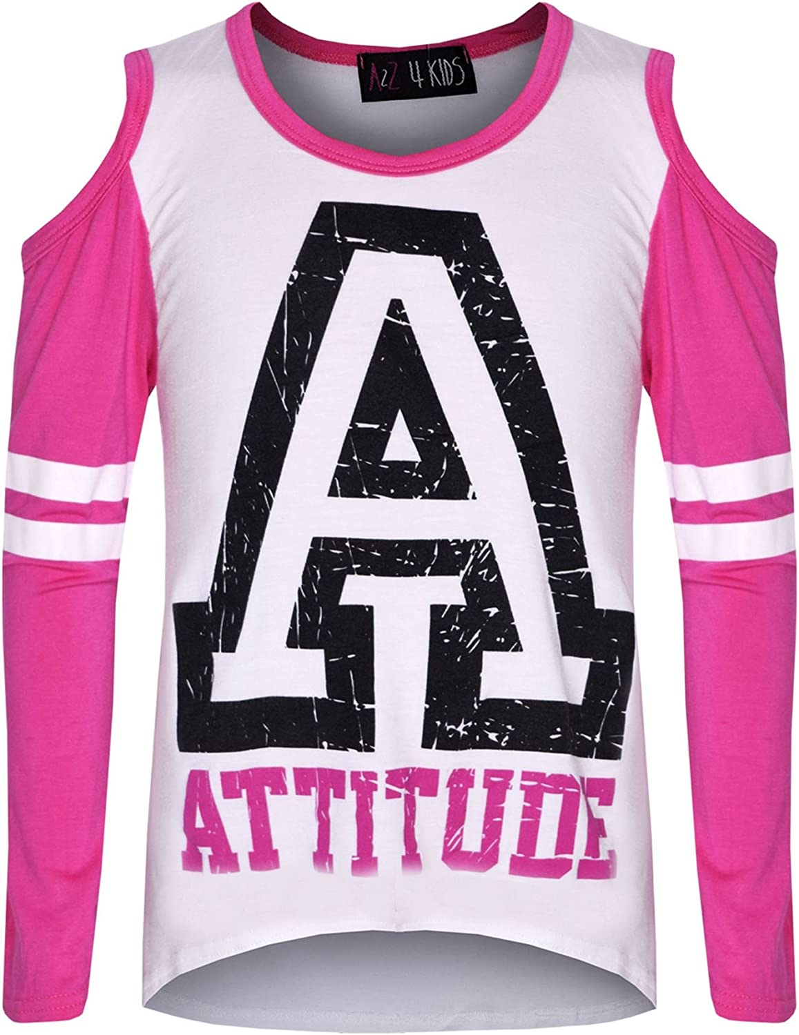 A2Z 4 Kids/® Girls Top Kids Attitude Print Trendy Top /& Fashion Legging Set Age 7 8 9 10 11 12 13 Years