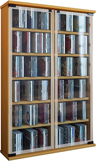 VCM Regal DVD CD Rack Turm Medienregal Medienschrank
