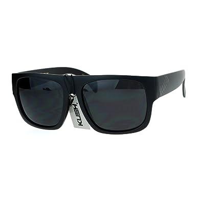 Amazon.com: Kush Marco cuadrado anteojos de sol mate negro ...