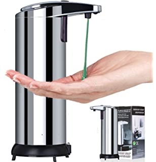 Agile-shop Stainless Steel Hands Free Automatic Ir Sensor Touchless Soap Liquid Dispenser