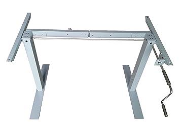 AnthroDesk Manual Crank Adjustable Height Standing SitStand Desk