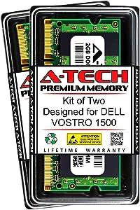 A-Tech 4GB (2 x 2GB) RAM for DELL VOSTRO 1500   DDR2 667MHz SODIMM PC2-5300 200-Pin Non-ECC Memory Upgrade Kit
