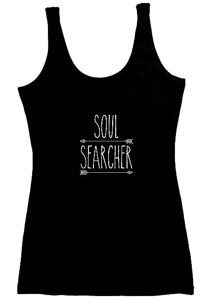 9a427b7852f121 TREELANCE Organic Cotton Yoga Tank Tops. Yoga Shirts for Women. Black Soul  Searcher Small