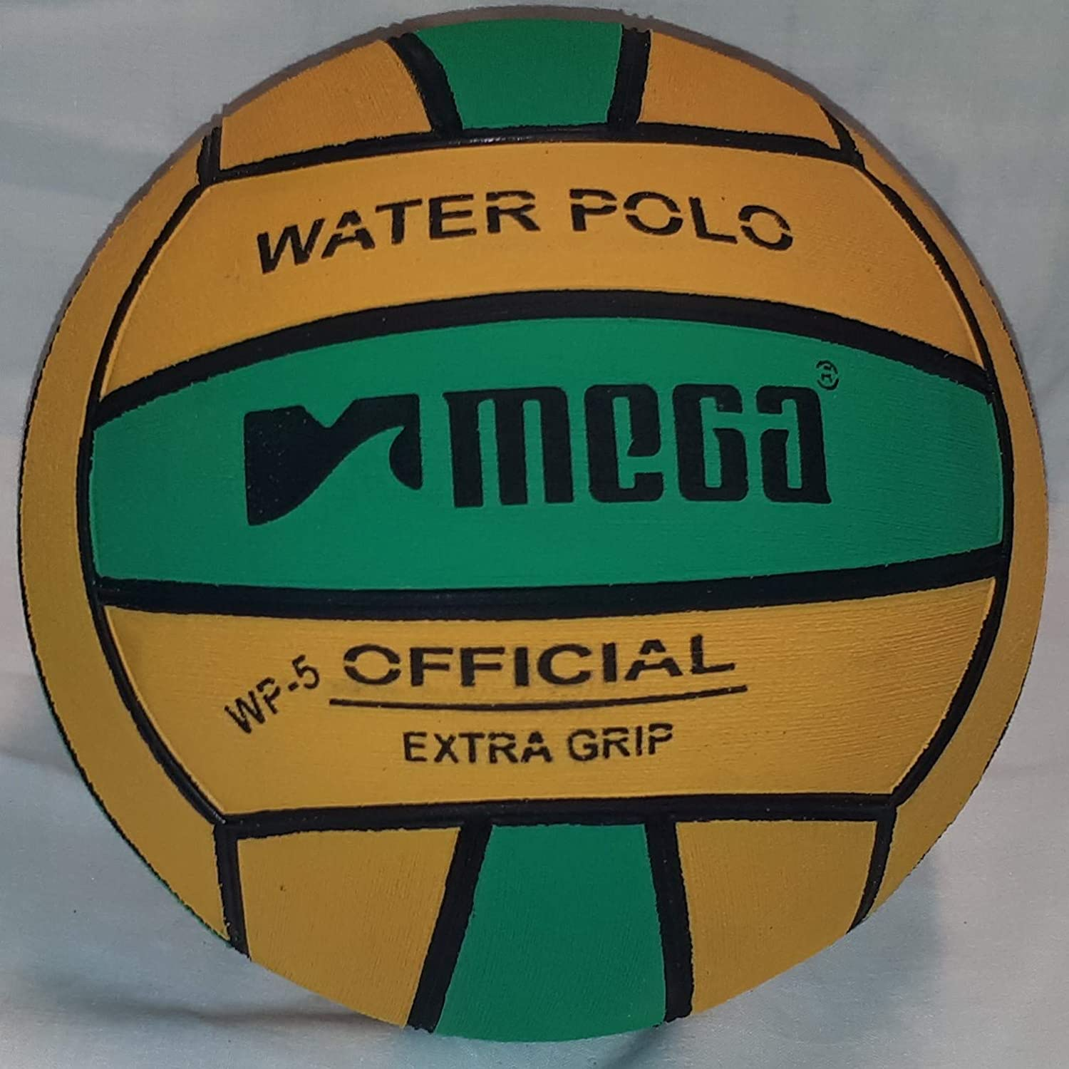 Mega Water Polo Ball Verde-Amarillo. Tamaño 5: Amazon.es: Deportes ...