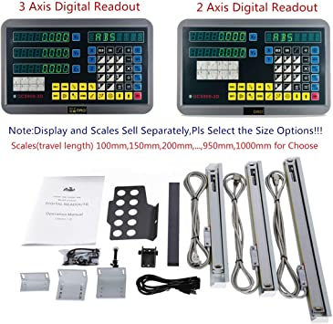 3 Axis Digital Readout DRO For Milling Lathe Machine And Precision Linear Scales