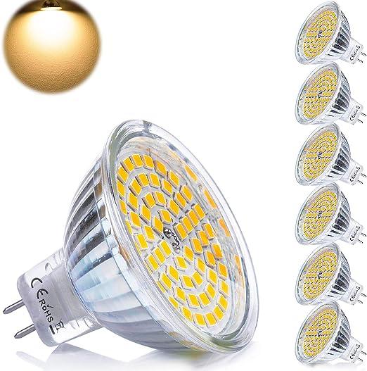 Yafido 6x Gu5 3 Led 12v Bulbs Mr16 Warm White 5w Replace 35w