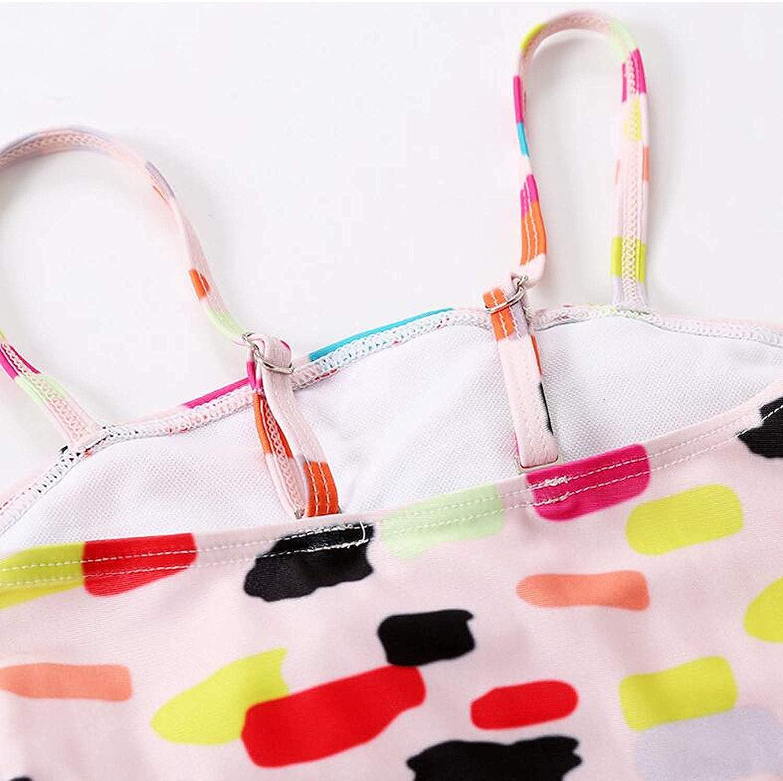 Little Girl Cute One Piece Beach Bikini Set Floral Ruffels Swimsuit Kids Lovely Dots Print Swimwear