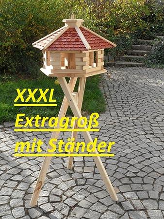 Varianten neu Vogelhaus Vogelvilla XL Holz Futterhaus Vogelfutterhaus verschied