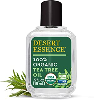product image for Desert Essence Organic Tea Tree Oil - 0.5 Fl Oz - Antiseptic - Deep Cleanse Pores - Suitable For All Skin Types - Therapeutic Grade Skincare - Household Cleansing - Acne - No Parabens
