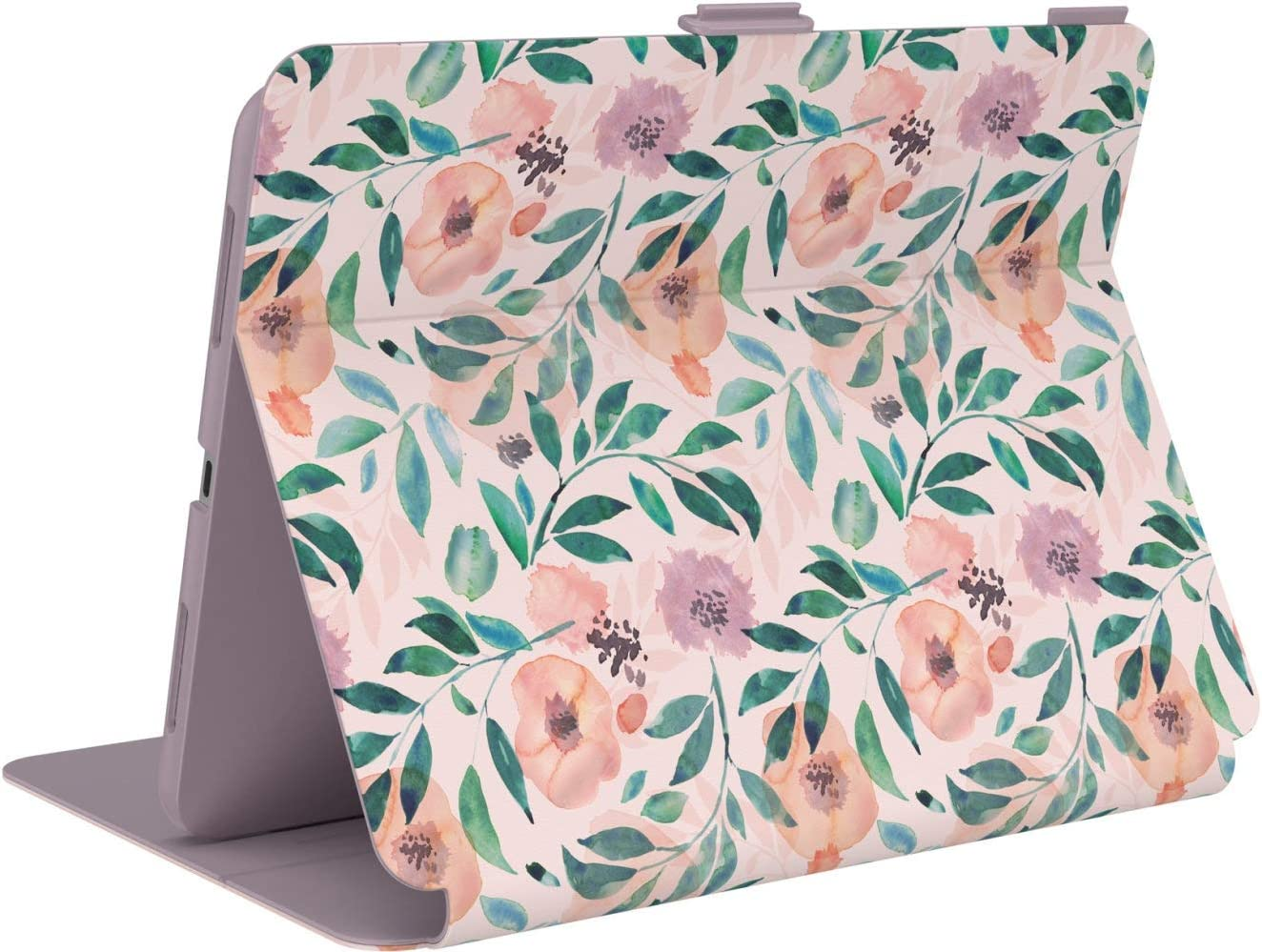 Speck Products Balance Folio Print iPad Air 10.9-inch Case and Stand, Watercolor Roses/Washed Lilac