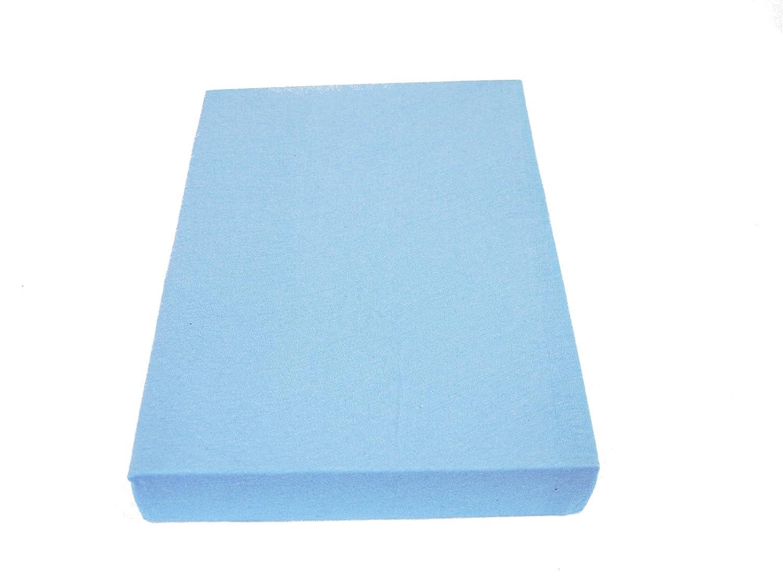 M/üskaan Jersey Spannbettlaken Bettlaken hellblau 70x140 cm