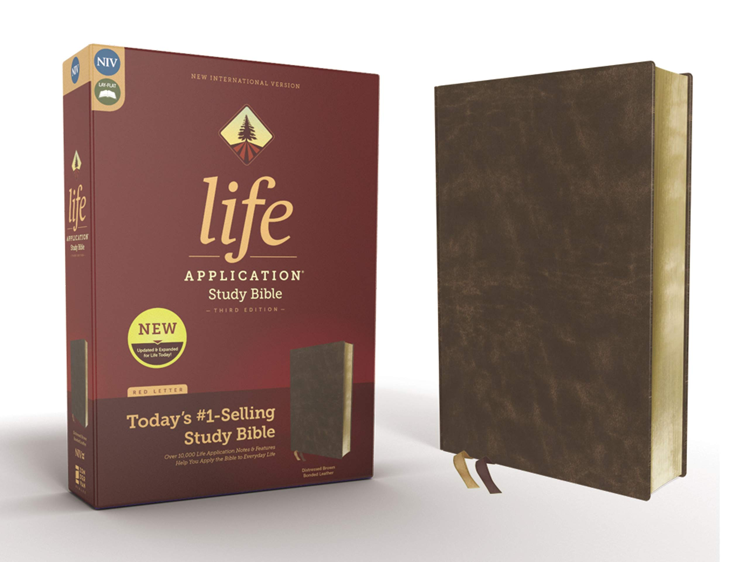NIV, Life Application Study Bible, Third Edition, Bonded Leather, Brown, Red Letter Edition