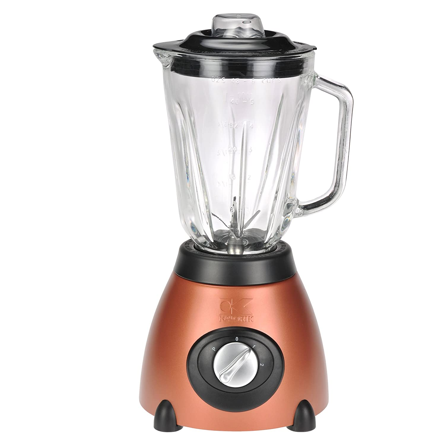 Amazon.com: Kalorik 500-Watt 2-Speed Countertop Blender with 50-Oz. Glass  Jar, Aztec Copper: Electric Countertop Blenders: Kitchen & Dining