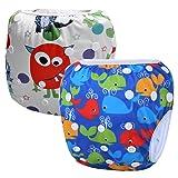 Storeofbaby 2pcs Baby Swim Diaper Short Trunks