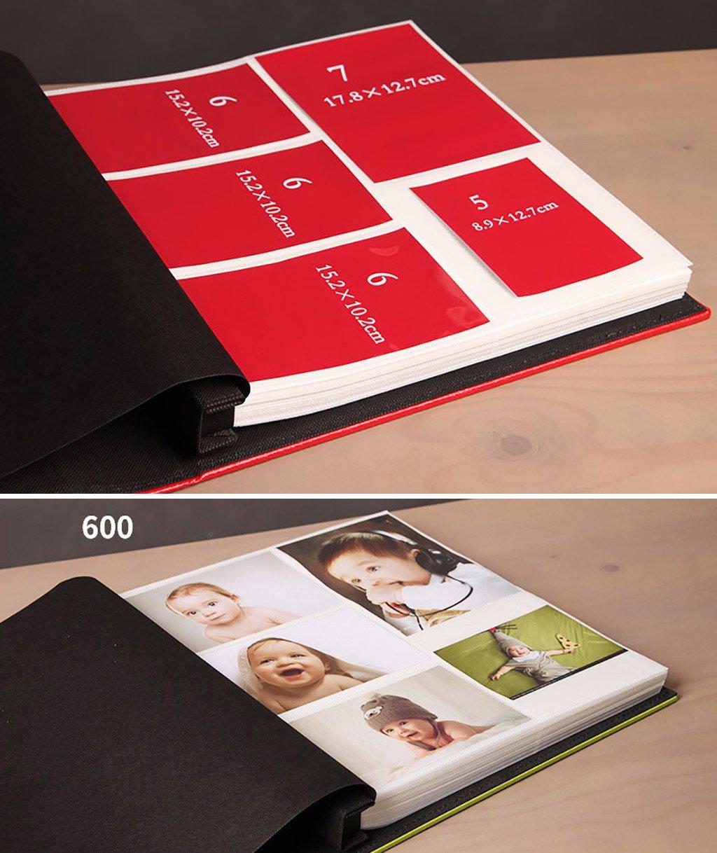 SESO UK- Álbum de Fotos de Creativas, álbum de Fotos Aniversario, álbum de Boda, álbum de Recuerdos de Crecimiento del bebé (Tamaño : 600 Photos) 7b9421