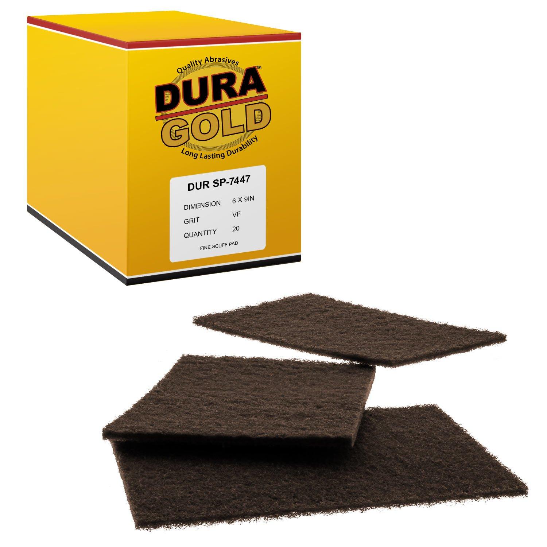 Dura-Gold 6'' x 9'' Premium Maroon General Purpose Scuff Pads, 20/ Pack