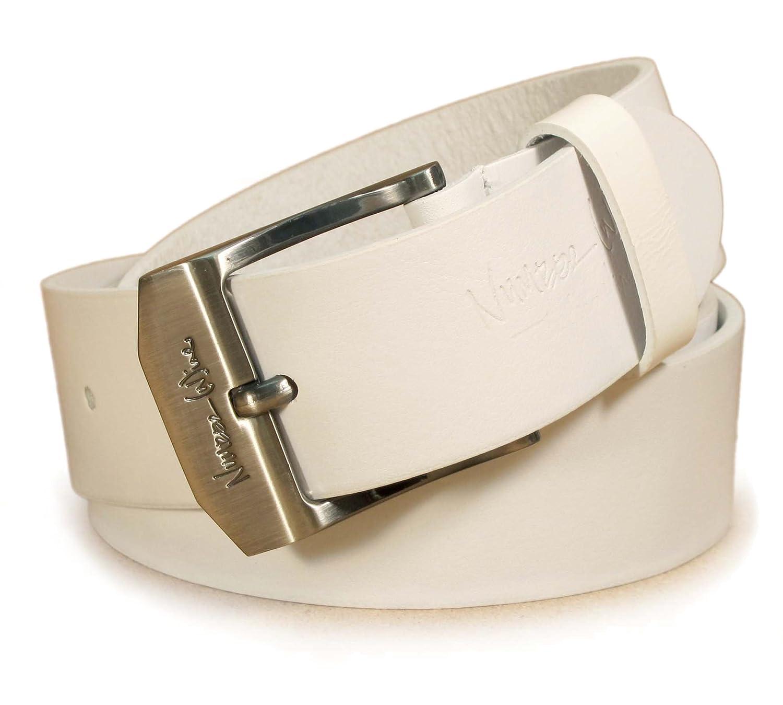 """(CM2-103) Hombre Cinturón Blanco 100% Cuero Real 28,30,32,34,36,38,40,42pulgadas Ancho 1,5"""" Cuero italiano"""
